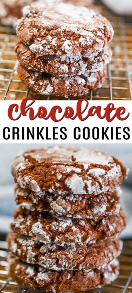 With just a few simple ingredients, Chocolate Crinkle Cookie Recipe comes together quickly. These cookies are so delicious and easy for any day of the week.