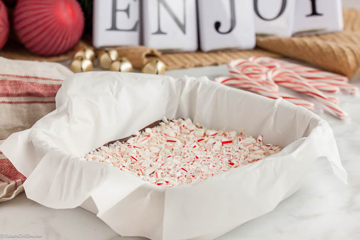 Peppermint Bark Recipe is easy to make and a holiday staple around here. The rich chocolate and festive peppermint look gorgeous together and taste amazing.