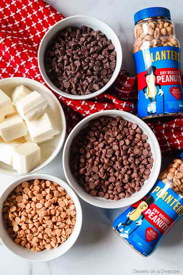 Crockpot Peanut Clusters Recipe is a simple dessert idea with only 5 ingredients. The crock pot does all the work and the results are tasty chocolate candy.