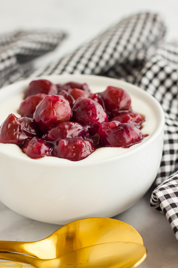 Homemade Cherry Pie Filling is super easy to make. This is so delicious to use in your favorite dessert recipes and also a yummy topping idea.