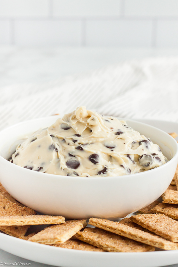 Chocolate Chip Cookie Dough Dip Recipe is super easy to make. This recipe is full of chocolate chips and a creamy mixture for a dip you can't resist.