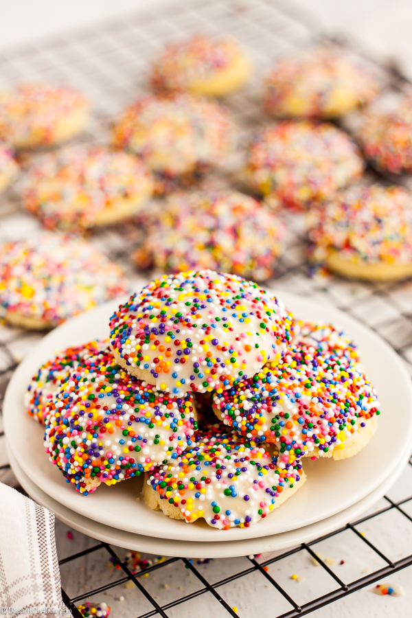 This Italian cookies recipe is buttery and delicious with an amazing glaze that just brings it all together. The sprinkles make the cookies extra festive.