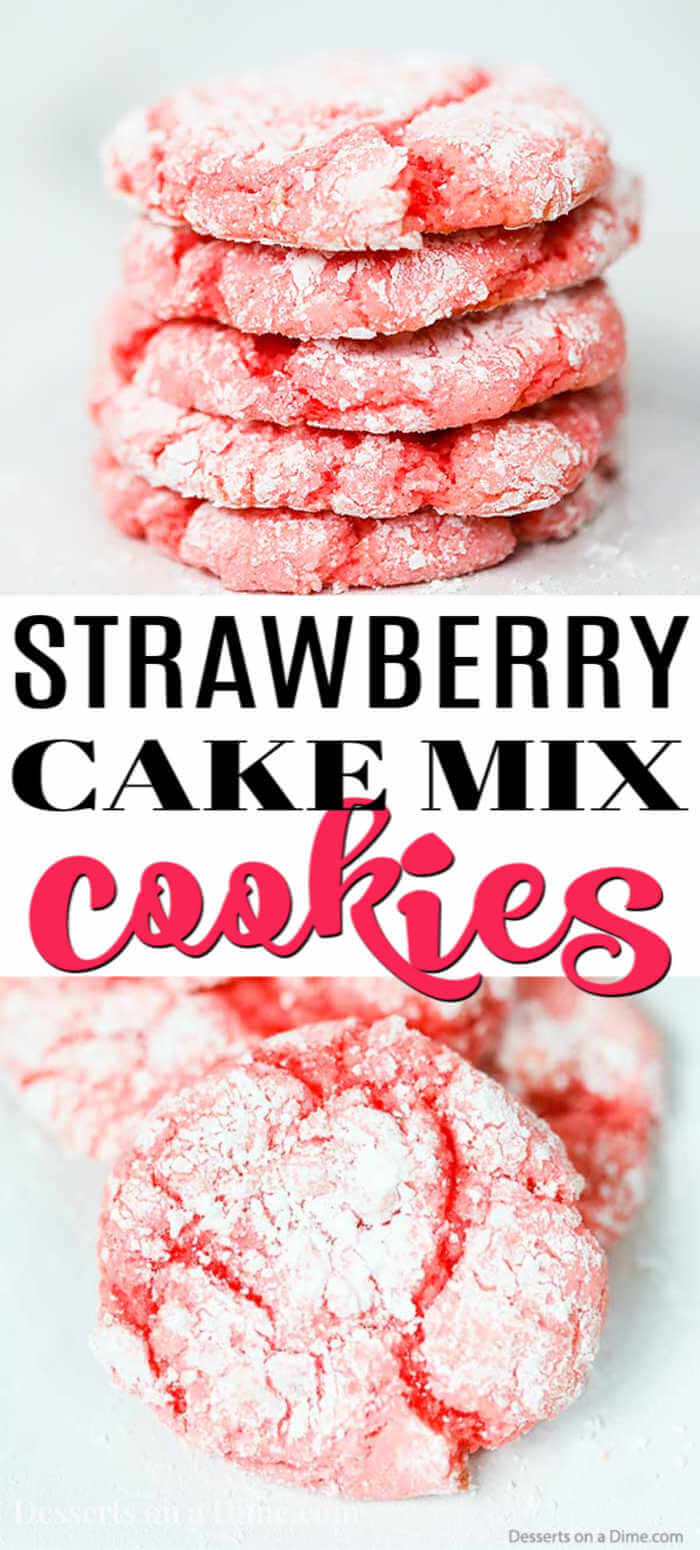 Try making Strawberry Cake Mix Cookies for the perfect treat in minutes. The secret is using a cake mix for cookies with hardly any work that taste amazing.