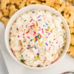 Terrific Cake Batter Dip Recipe 4 Ingredient Funfetti Cake Batter Dip Funny Birthday Cards Online Elaedamsfinfo