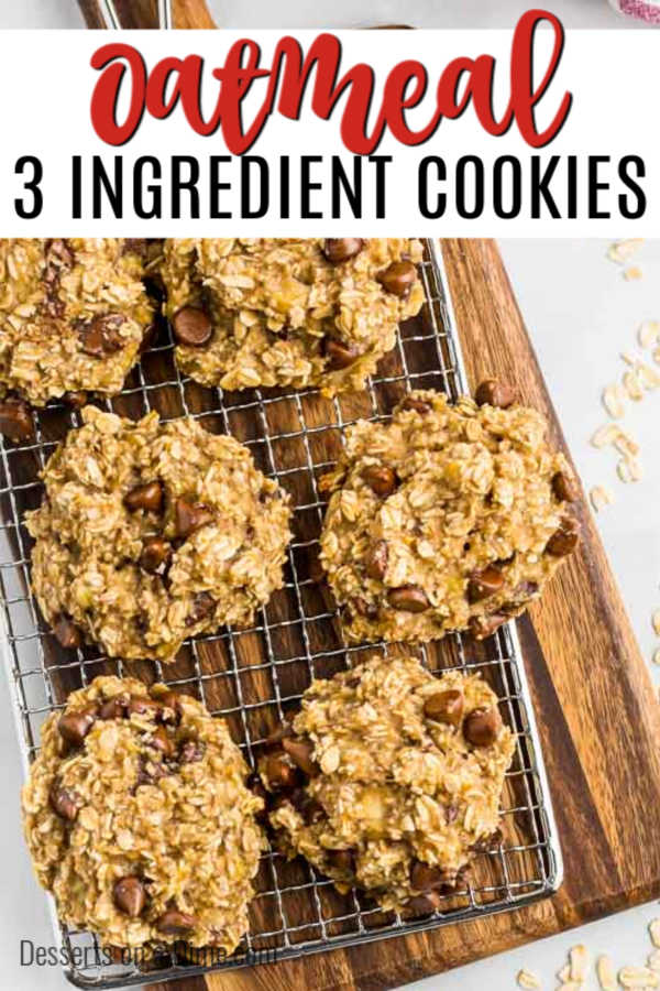 3 ingredient oatmeal cookies are so decadent that you won't believe how simple they are. With just 3 ingredients, you can make the best oatmeal cookies.