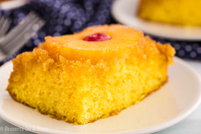 Pineapple upside down cake is the perfect dessert to impress friends and family or take to the next pot luck. It looks fancy but is so simple to make.
