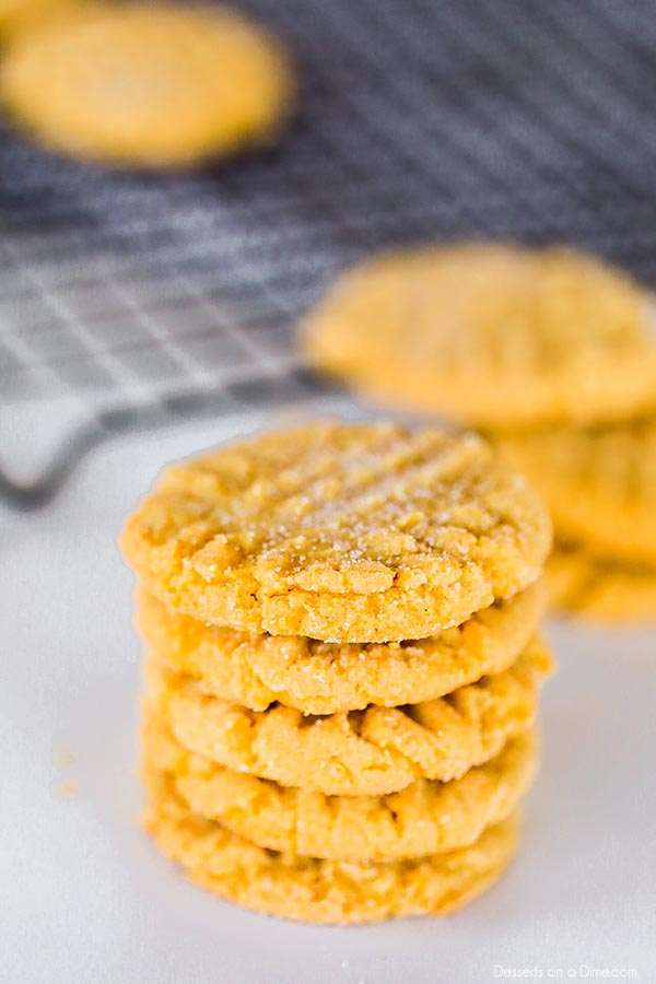 Peanut butter cake mix cookies are so easy and the secret is a cake mix! Enjoy these easy cookies that are soft and chewy for the best treat.