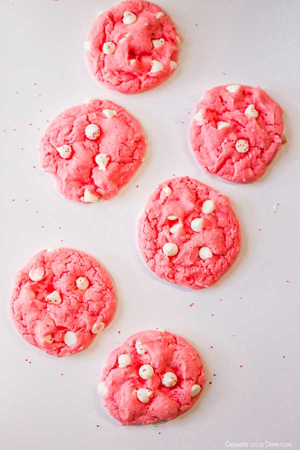 Enjoy a fun and tasty treat when you make Valentine's Day Cake Mix Cookies. With only a few ingredients, you can make this easy cake mix cookies recipe.
