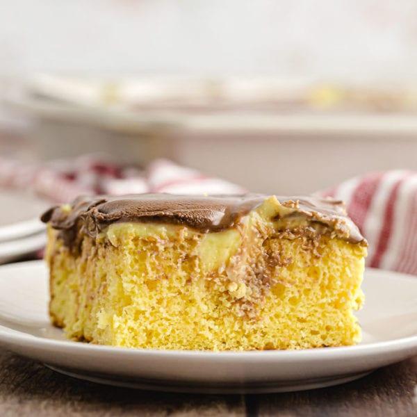 Boston Cream Poke Cake Recipe