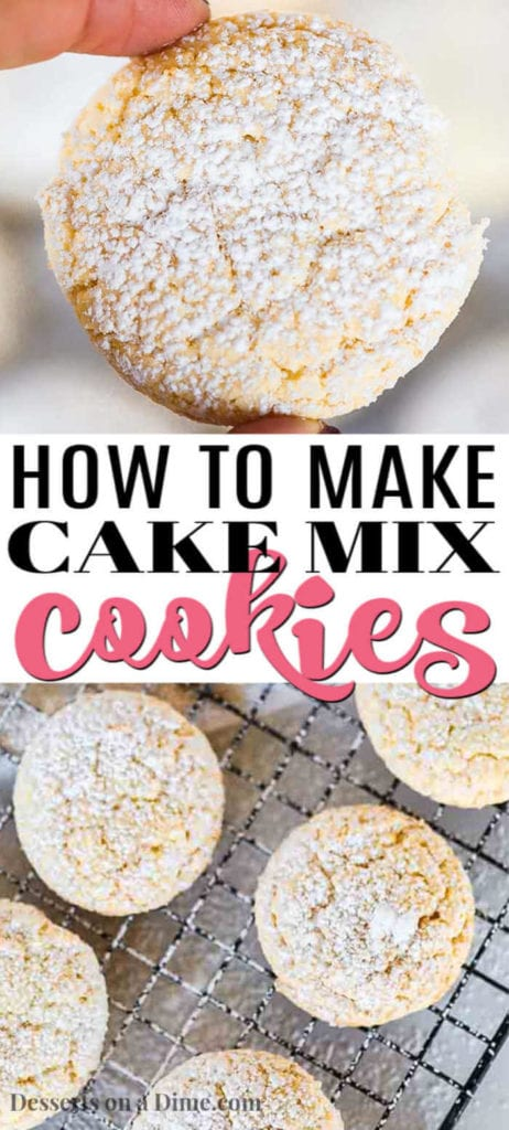 We are going to show you how to make cake mix cookies with only 4 ingredients that will taste amazing. If you need a super easy dessert, this is a must try.