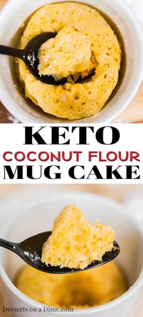 You only need 90 seconds to make this tasty keto mug cake coconut flour recipe. Satisfy that craving for dessert with this easy keto friendly recipe.