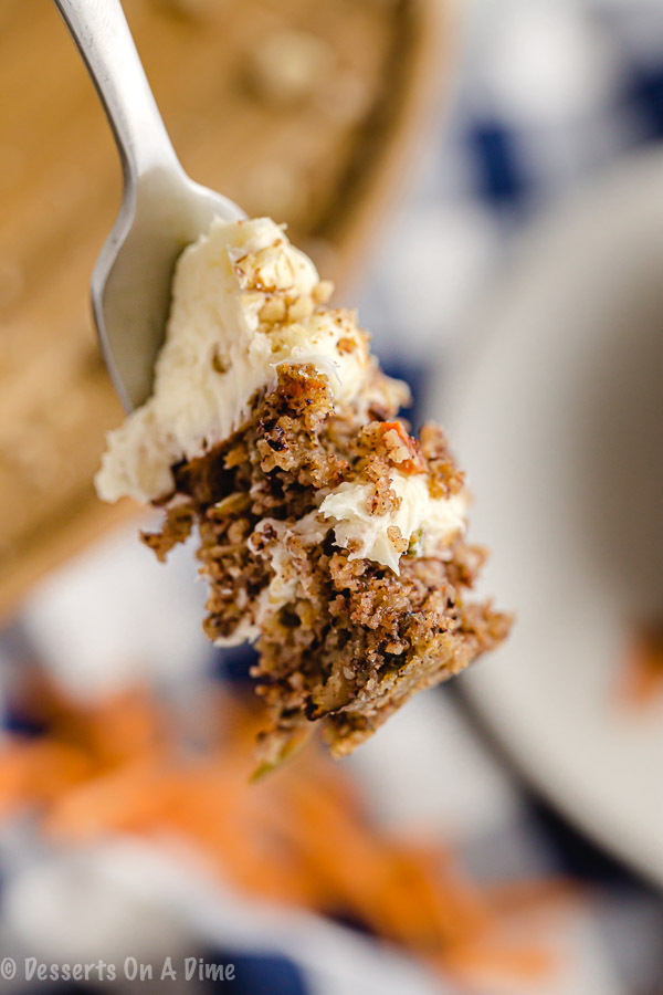 Keto carrot cake recipe has layers of delicious icing and cake while being keto friendly. Each bite is so decadent not to mention the cake looks gorgeous.