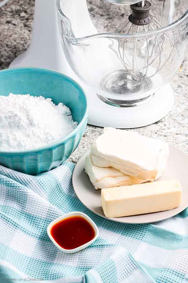 Cream Cheese Frosting Recipe has only 4 simple ingredients making it super easy to make homemade frosting. Try this recipe for a quick and easy frosting.