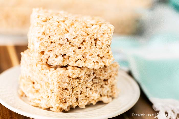 We are going to show you how to make rice krispie treats that are so delicious you won't ever buy store bought again. This treat is super easy to make.