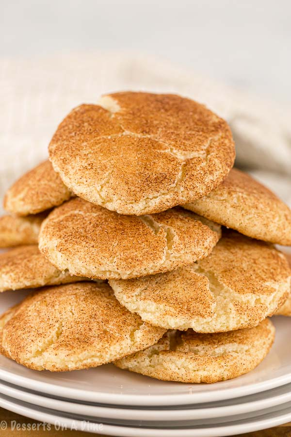 Snickerdoodle Cookie Recipe is one of our favorites. The cookies are so soft and delicious.  Each bite is the perfect blend of cinnamon and sugar.