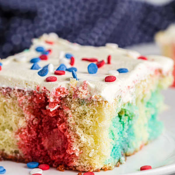 4th of July Poke Cake Recipe