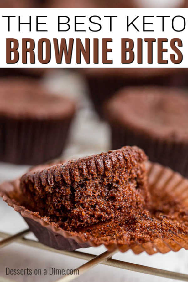 Keto Brownie Bites are a dream come true for those on a keto diet. Enjoy all that you love about a brownie without any guilt. It is the best of both worlds!