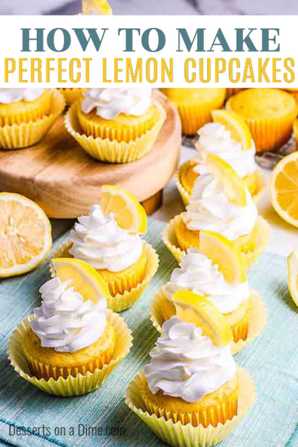 This Lemon Cupcakes Recipe is the perfect dessert for Spring or Summer. The lemon flavor is so light and refreshing making the cupcakes a tasty treat.
