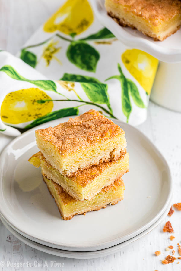 We love all things lemon and this Lemon squares recipe does not disappoint. It is sweet and tangy for the best dessert. Oh and that yummy powdered sugar!