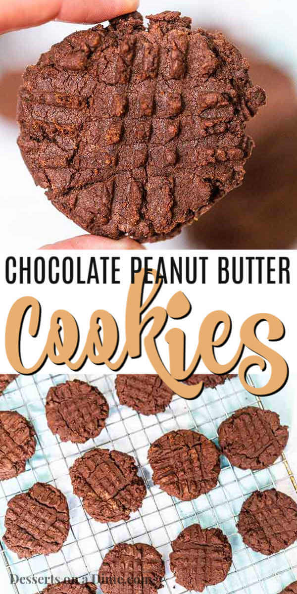 Enjoy a decadent combination when you make tasty Chocolate peanut butter cookies. Classic peanut butter cookies get even better when you add chocolate.