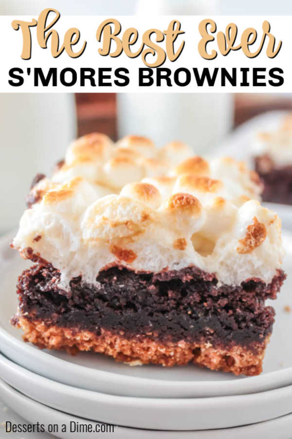 Layers of fudgy chocolate, graham crackers and perfectly toasted marshmallows make this amazing S'mores brownies recipe. One bite and you will be hooked.