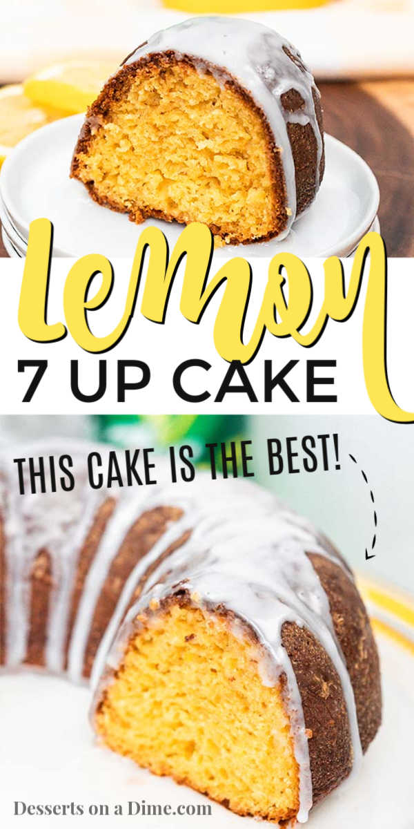 We absolutely love this 7 up cake recipe. Each bite is so moist and delicious. Plus, that glaze is heavenly! This cake is a must try!