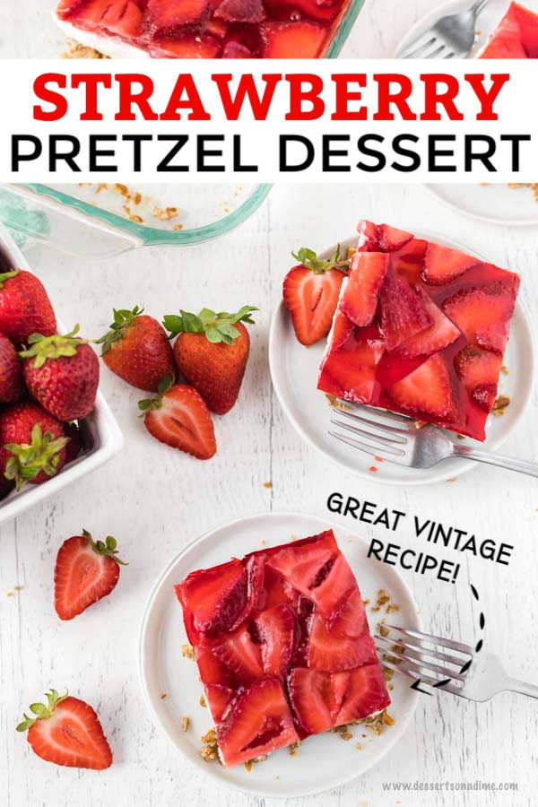 Strawberry pretzel dessert recipe is the perfect combination of salty and sweet. The creamy filling is so decadent and the strawberry topping is delicious.