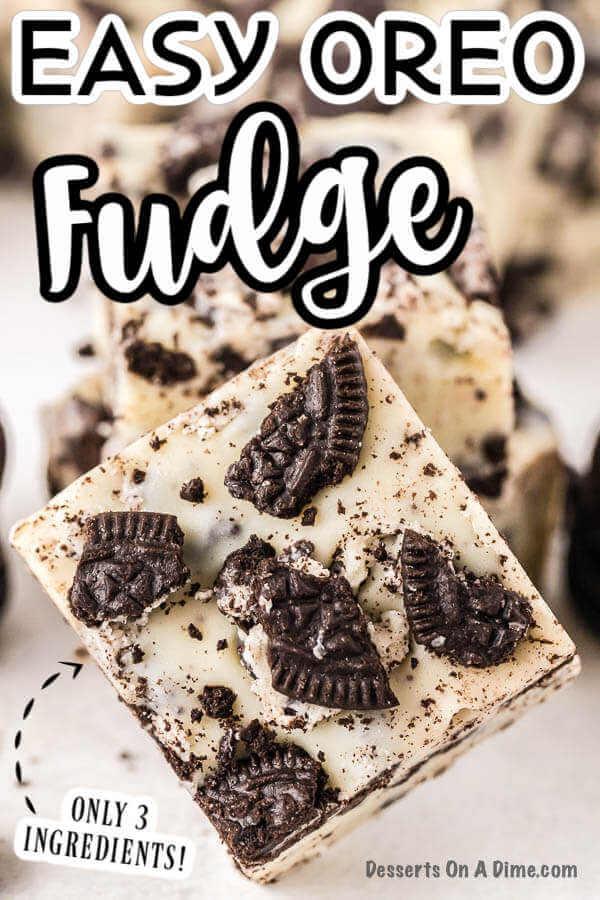 Oreo Fudge Recipe Easy 3 Ingredient Oreo Fudge Recipe